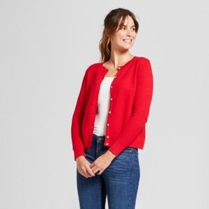 A New Day Red Cardigan Sweater New